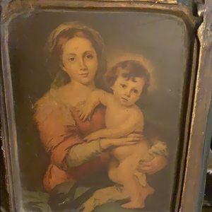 Vintage Wall Art - Antique old religious art picture painting